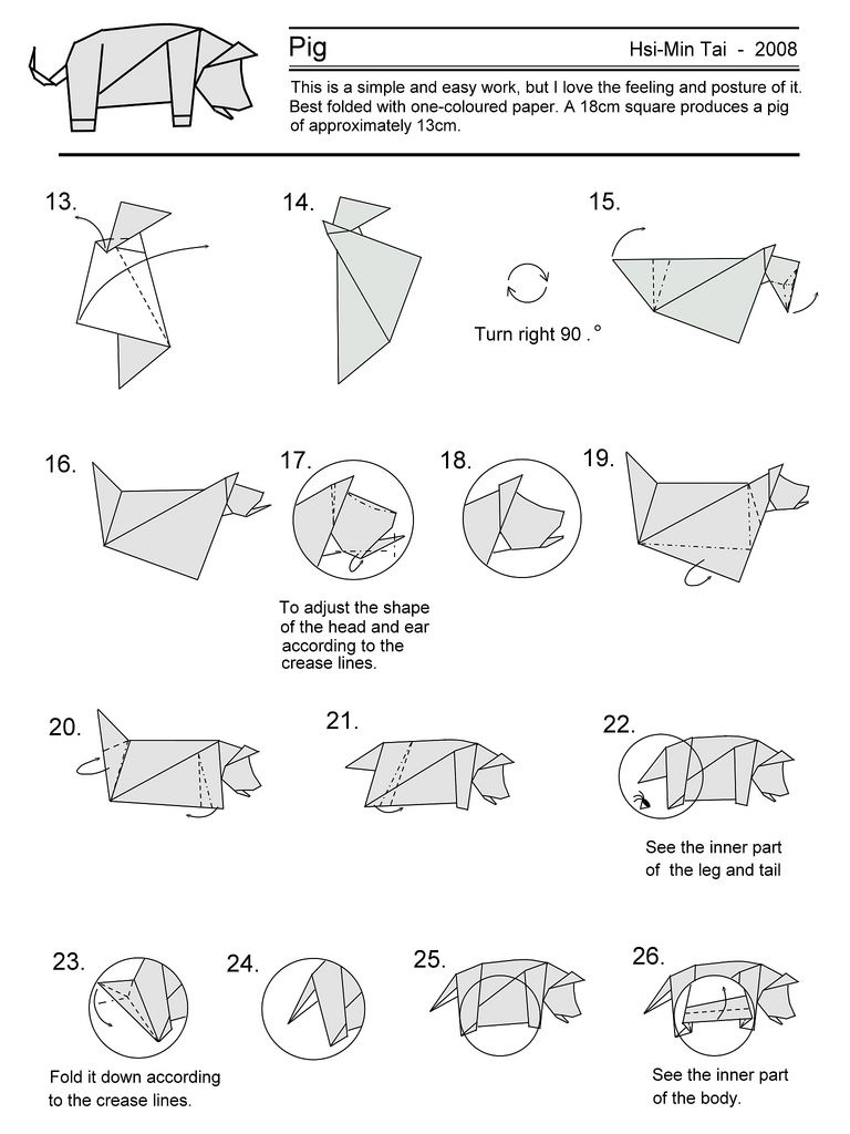 Origami pig 1 origami pinterest origami origami pig 1 pooptronica