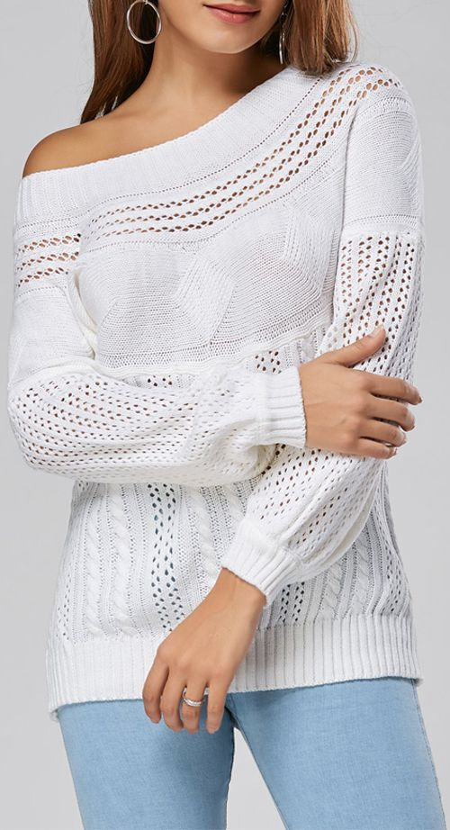 Cable Hollow Out Sweater | Clothes | Pinterest | Ropa, Pantalones ...