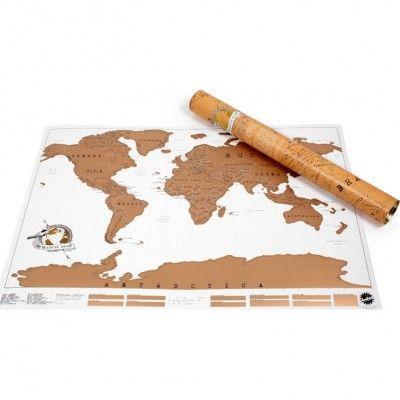 Carte du Monde à gratter - Planisphère Scratch Map - Mappemonde à gratter de l'Atelier chez Soi
