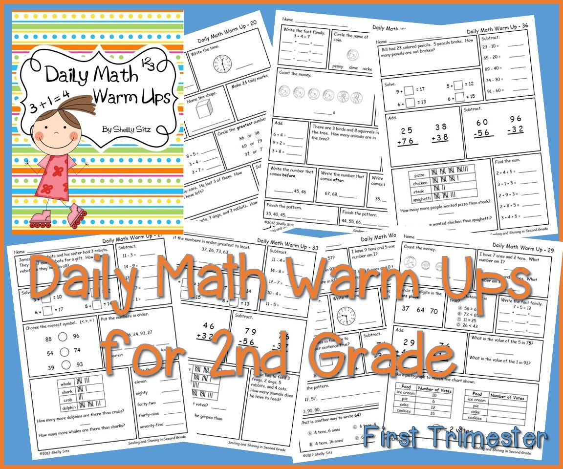 Math For Second Grade First Trimester With Images
