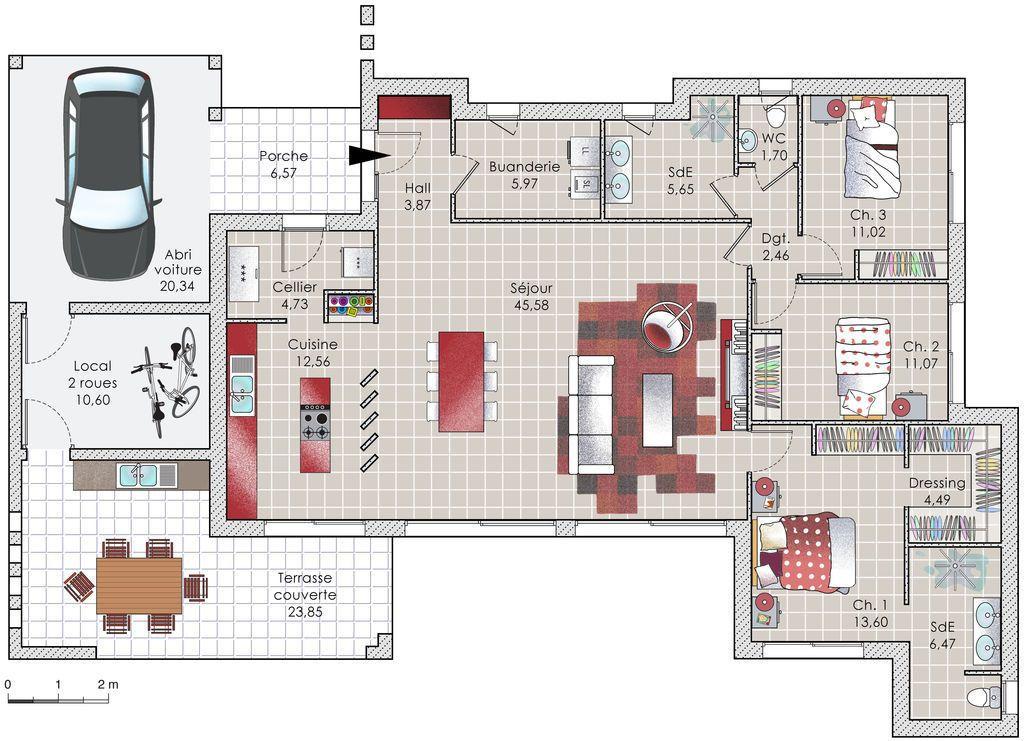 Une contemporaine conviviale Pinterest Architecture - construire une maison de 200m2