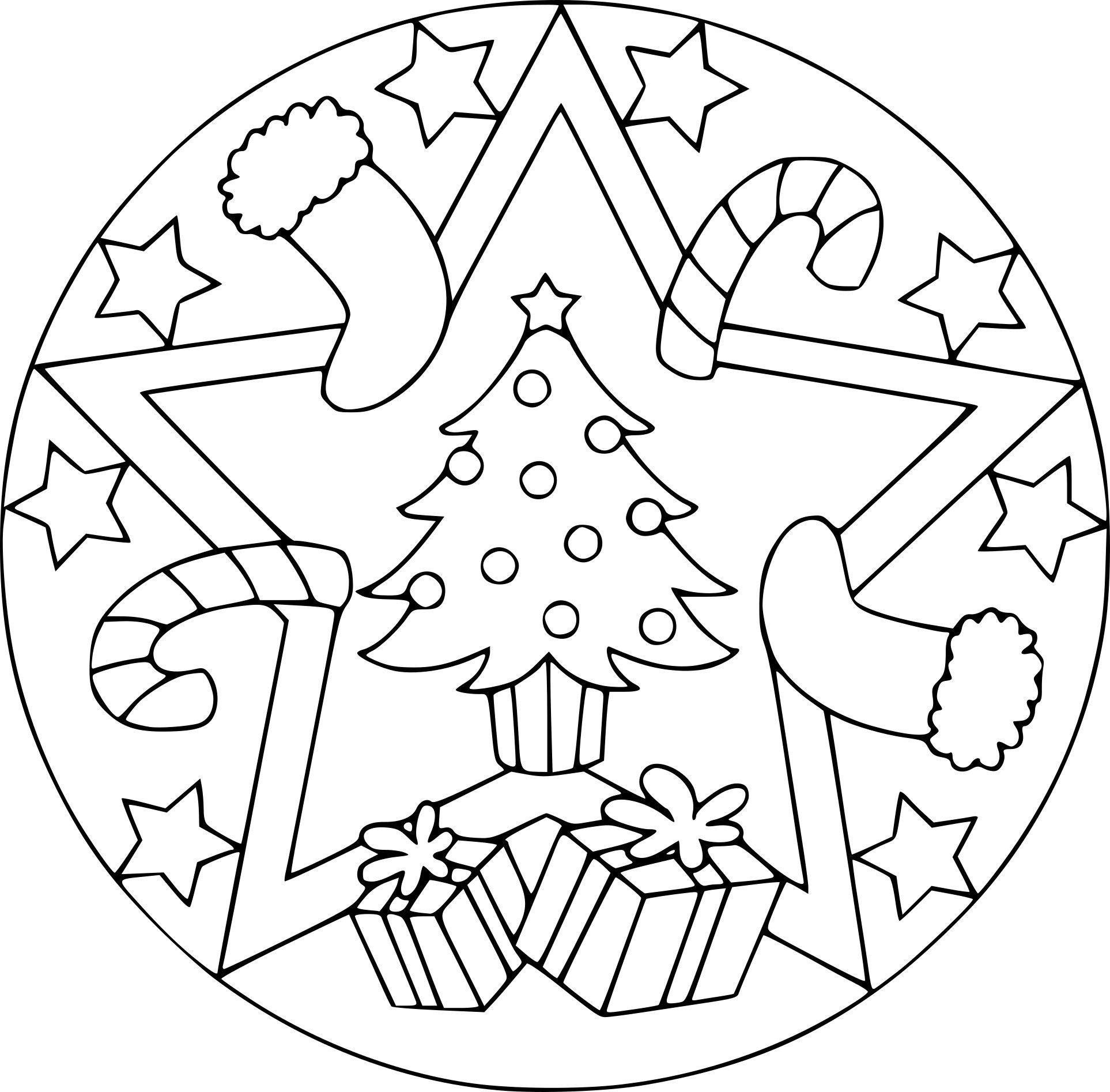 Mandala Noel Ausmalbilder Zum Drucken Coloriage De Noel A Imprimer Mandala Kleurplaten Kerstkleurplaten Mandala