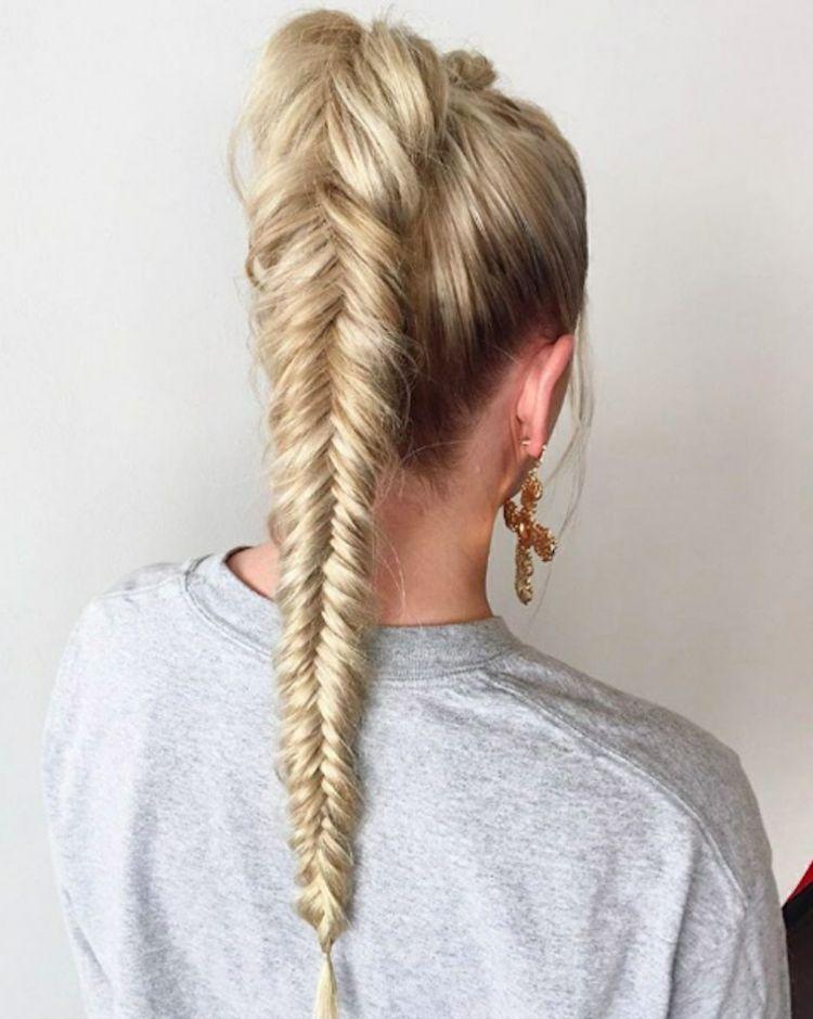 Schwimmerinnen Fischgrätenzopf Frisuren Für Den Sport #frisuren