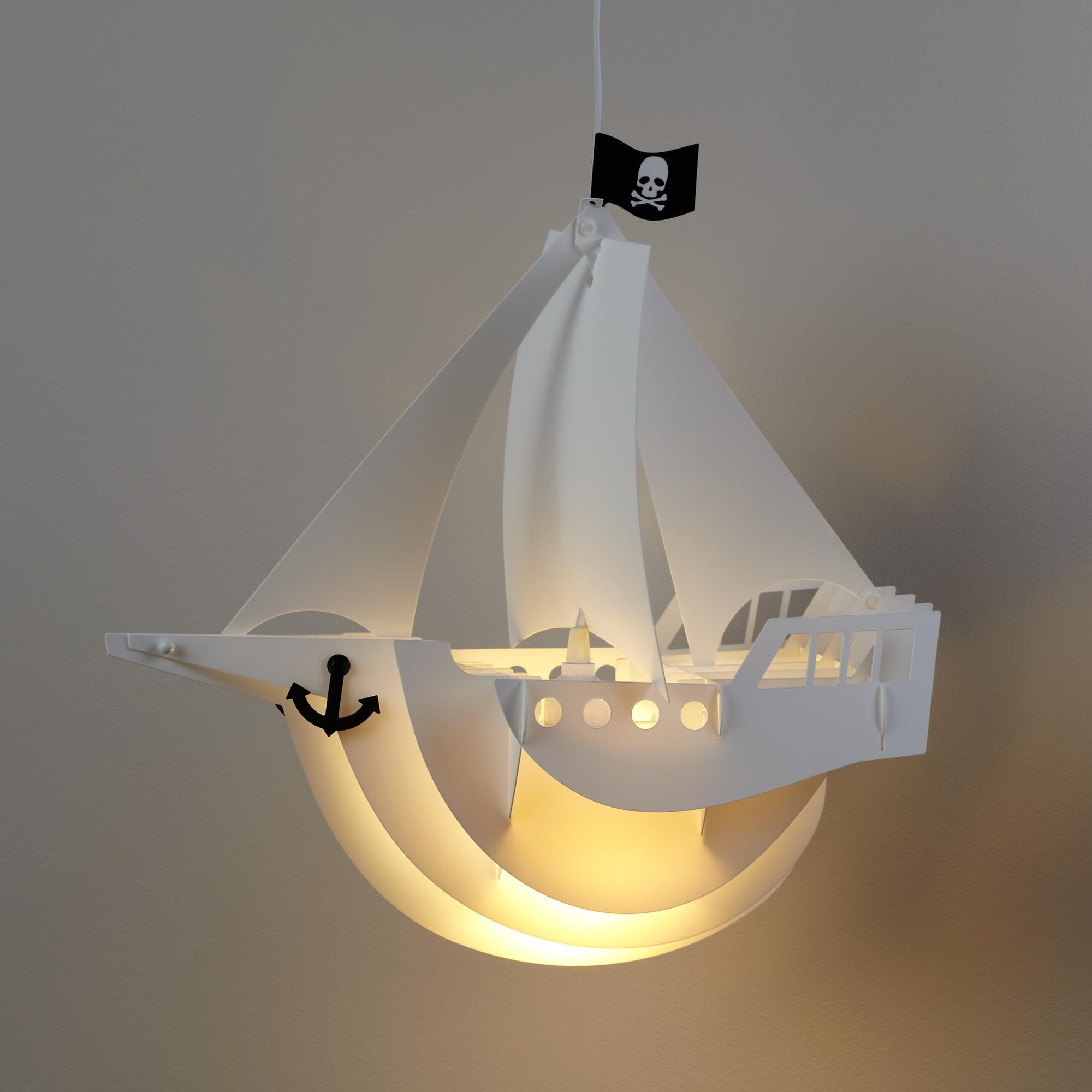 Kids Lighting: Pirate Ship Ceiling Lamp In Ceiling
