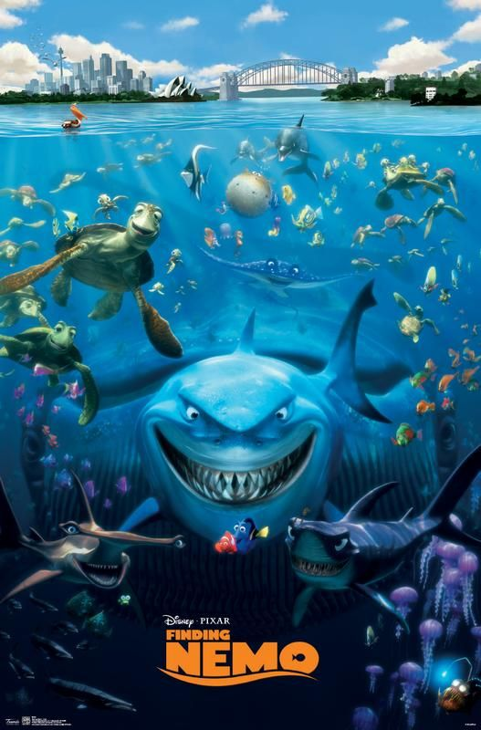 Finding Nemo - Cast Poster and Poster Mount Bundle