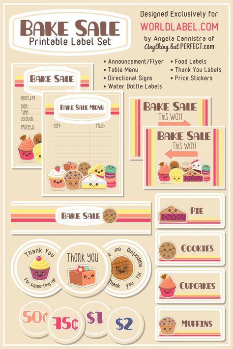 FREE Bake Sale Printables! - Saving Dollars & Sense