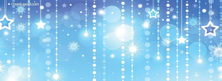 Light Blue And White Stars Facebook Cover Coverlayout Com Christmas Facebook Cover Twitter