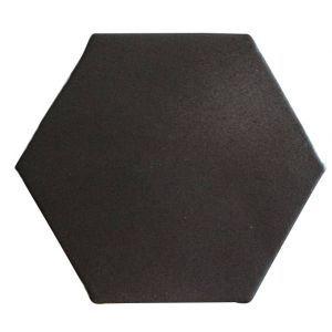 carrelage hexagonal 15x15 cm noir comptoir du ceram 43 67 m2. Black Bedroom Furniture Sets. Home Design Ideas