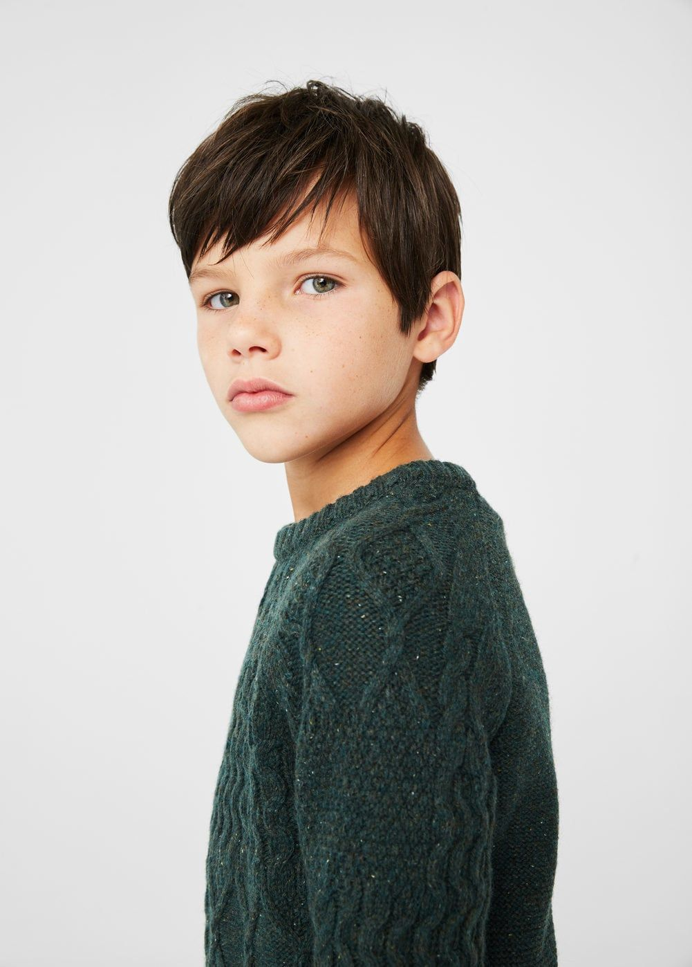 Hairstyle for teenager boy bicolor wool sweater  kids usa and boy hair