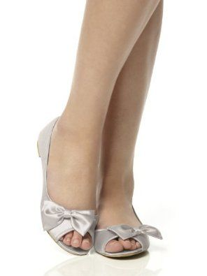 277e17f9879e Amazon.com  Satin Peep Toe Bridal Ballet Flats by Dessy  Shoes ...