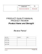 Pqr Apr Example Template Pharma Solutions Templates