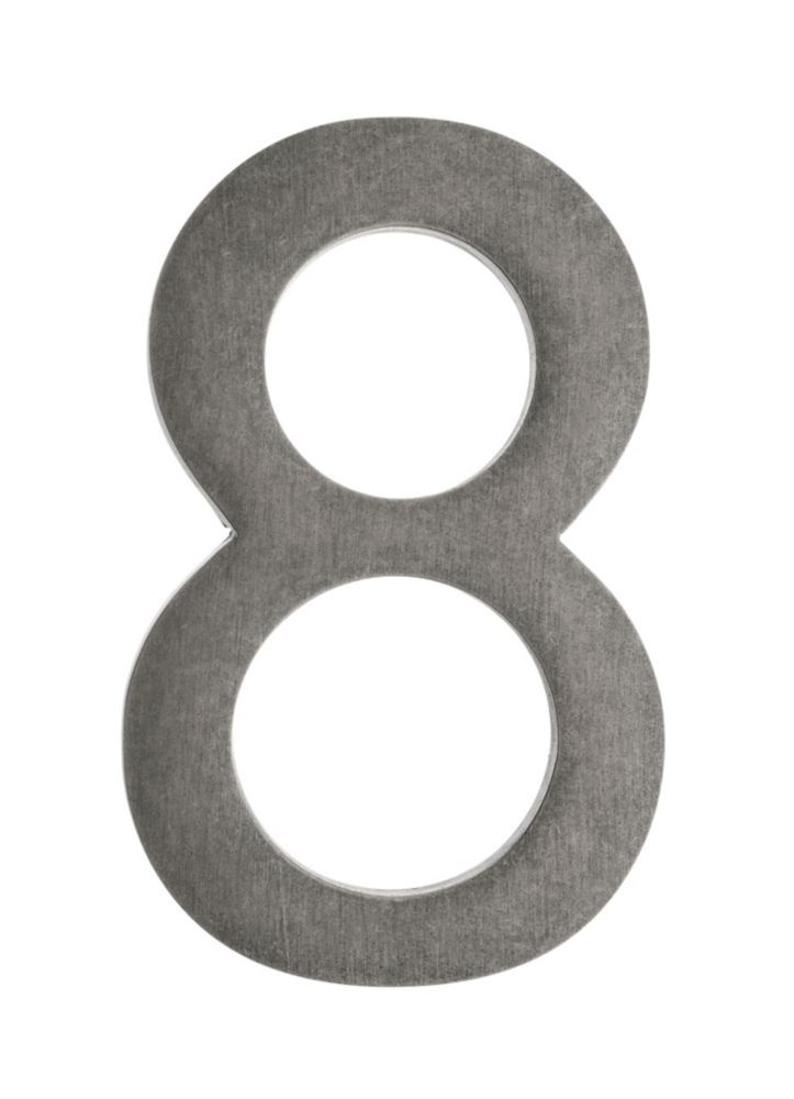 Address Number 4 Inch Brass Antique Pewter 8 Architectural Mailboxes Antique Pewter House Numbers