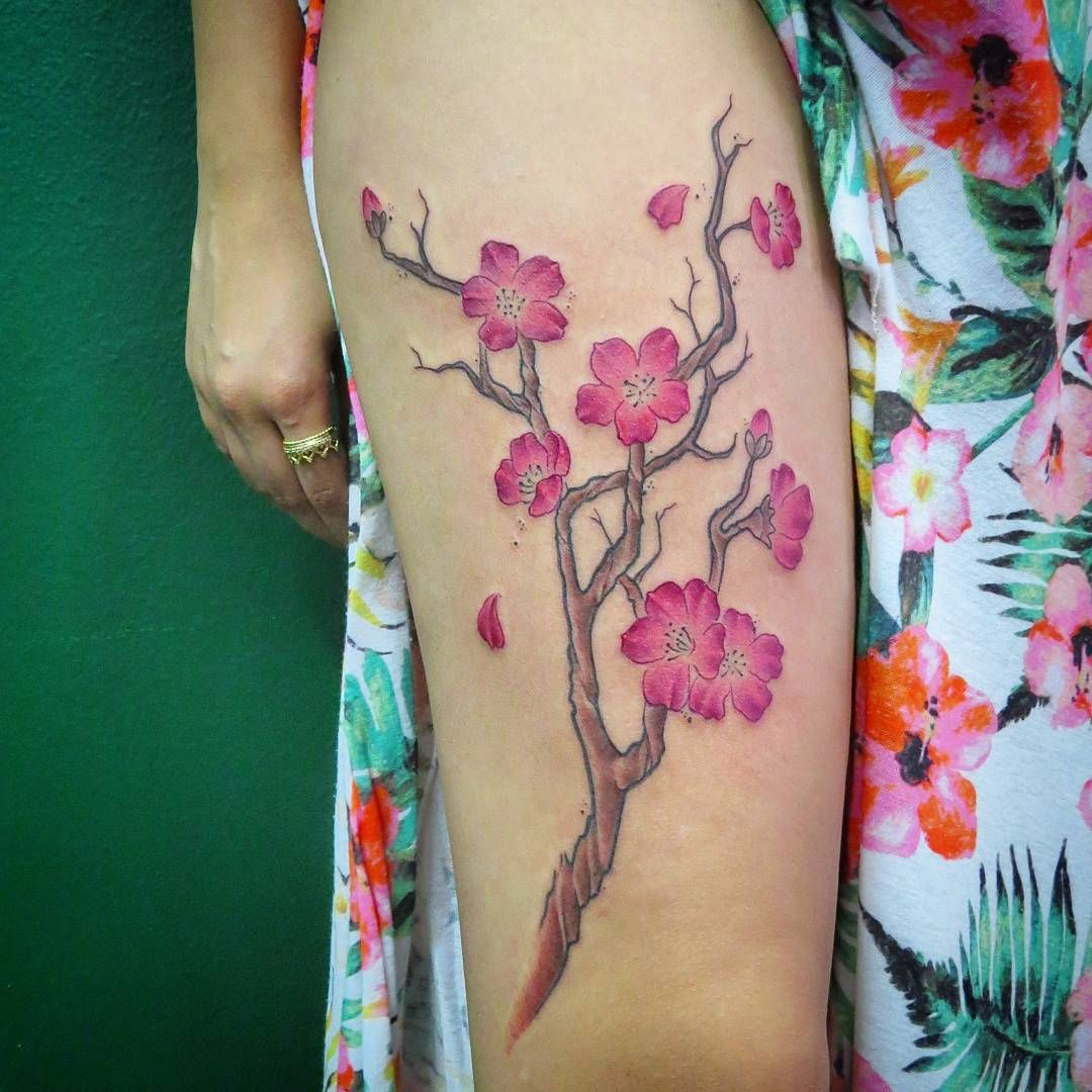 Cherry Blossom Tattoos Are Common Among The Eastern Cultures Like Anese And Chinese However These Gaining Pority In Western