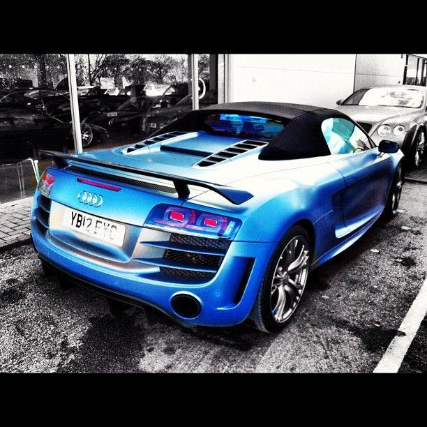 Electric Blue Audi R8