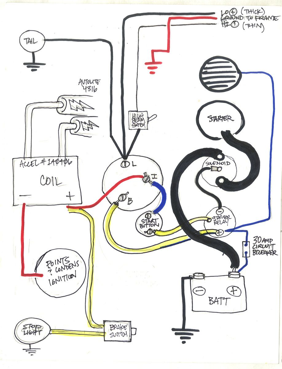 1977 sportster chopper wiring diagram. use at your own ...
