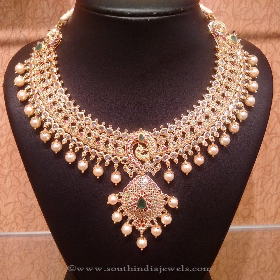 uncut diamond and emerald necklace uncut diamond