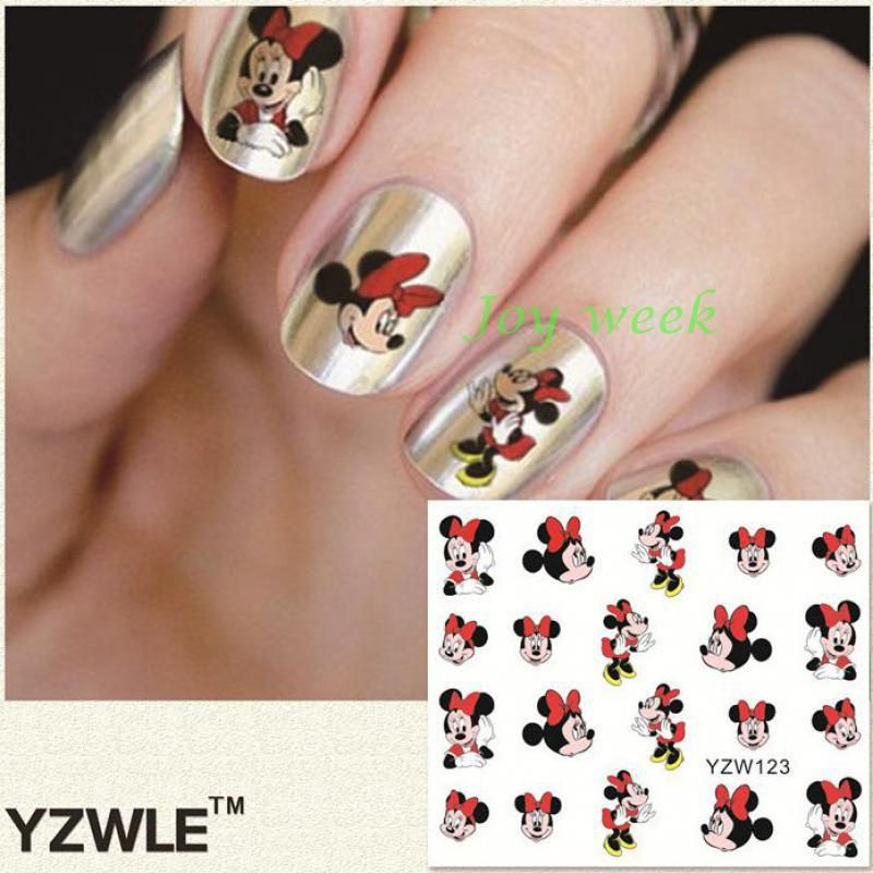 363446166e Pin by Nicole Logan on Nail art   Nail art stickers, Nails, Mickey ...