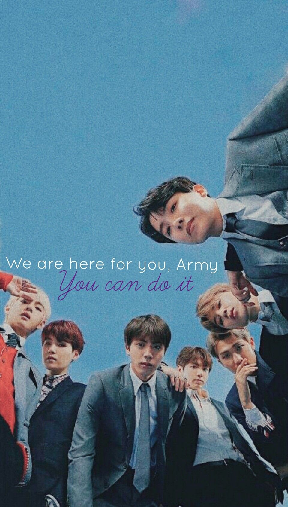 We Are Here For You Army You Can Do It Bts Inspirational Wallpaper Bts Quotes Bts Qoutes Bts Lyrics Quotes Bts inspirational quotes wallpaper