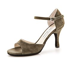 Thick soled, comfortable practica Tango shoes - Mi Sueno - Gamuza Verde Noche $135 Euros