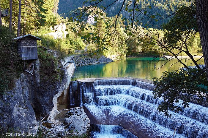 The Emerald River of Lech in Fuessen, Bavaria