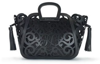 small vachetta scroll tote | ralph lauren