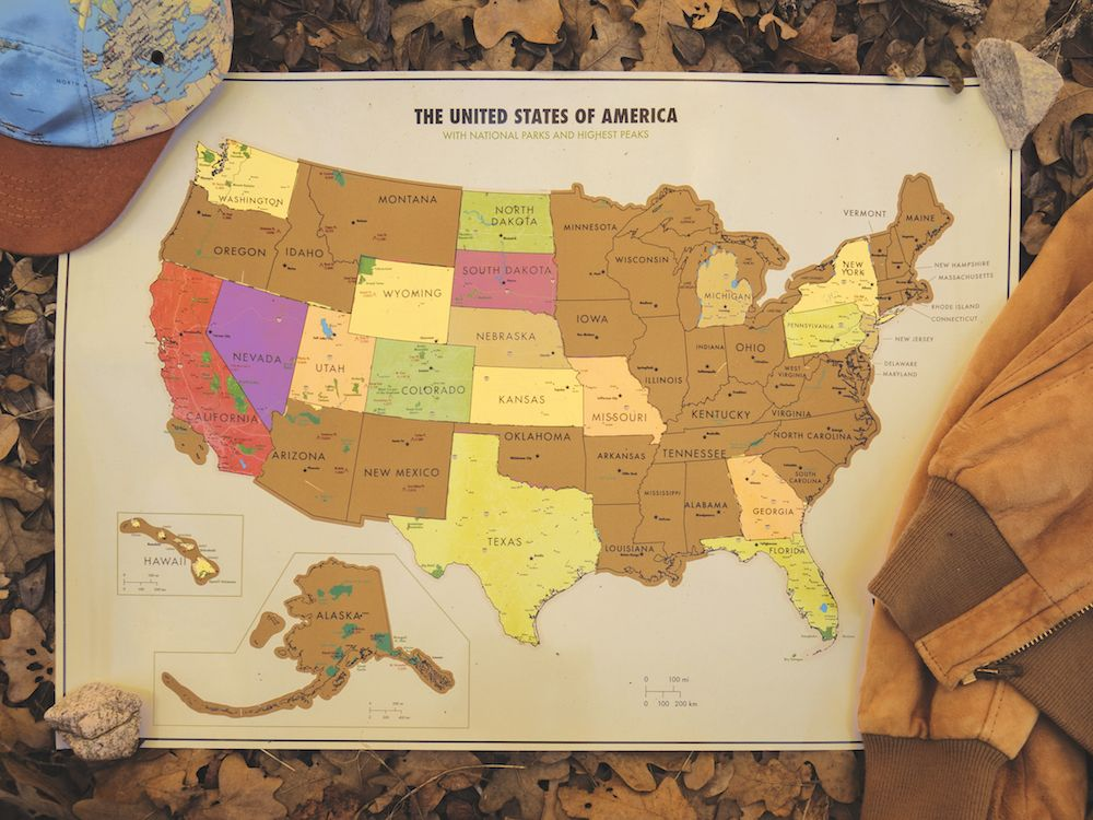 Track Your Travels In The United States With Our National Parks - Us map travel tracker