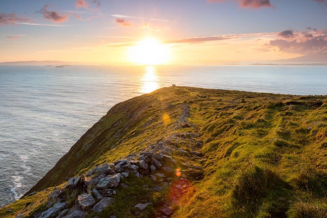 Brandon Point sunrise: Very similar to a previous post of mine but a different orientation and I applied more advanced post processing techniques. I think I prefer this version.  Happy Sunday everyone!  #wildatlanticway
