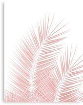 Blush Pink Palm Leaves Dream  Cali Summer Vibes #1 #tropical #decor #art  Canvas...#art #blush #cali #canvas #decor #dream #leaves #palm #pink #summer #tropical #vibes