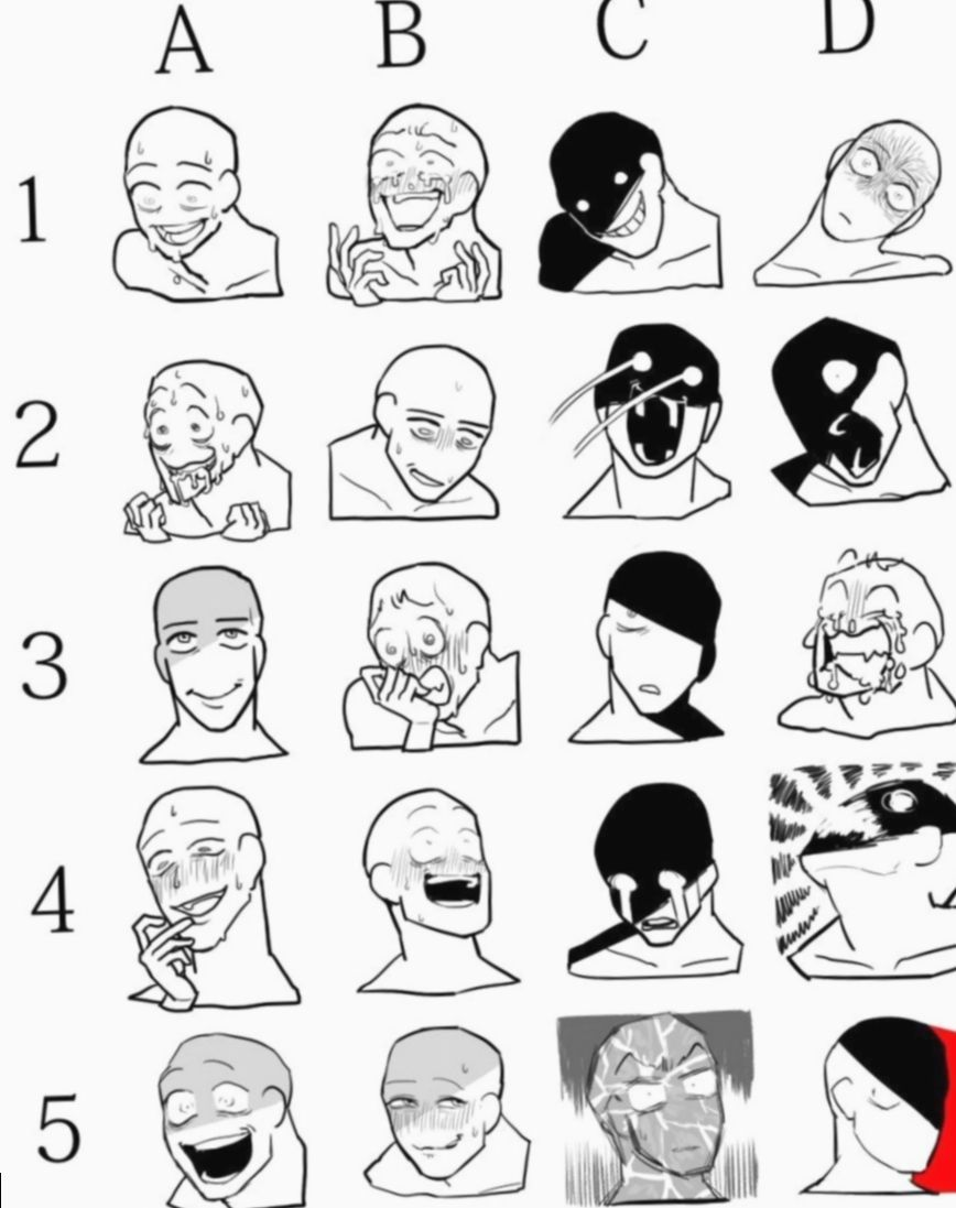 Anime Face Expressions Crazy Bakugou Bnha Bokunoheroacademia In 2020 Drawing Expressions Art Reference Drawing Reference