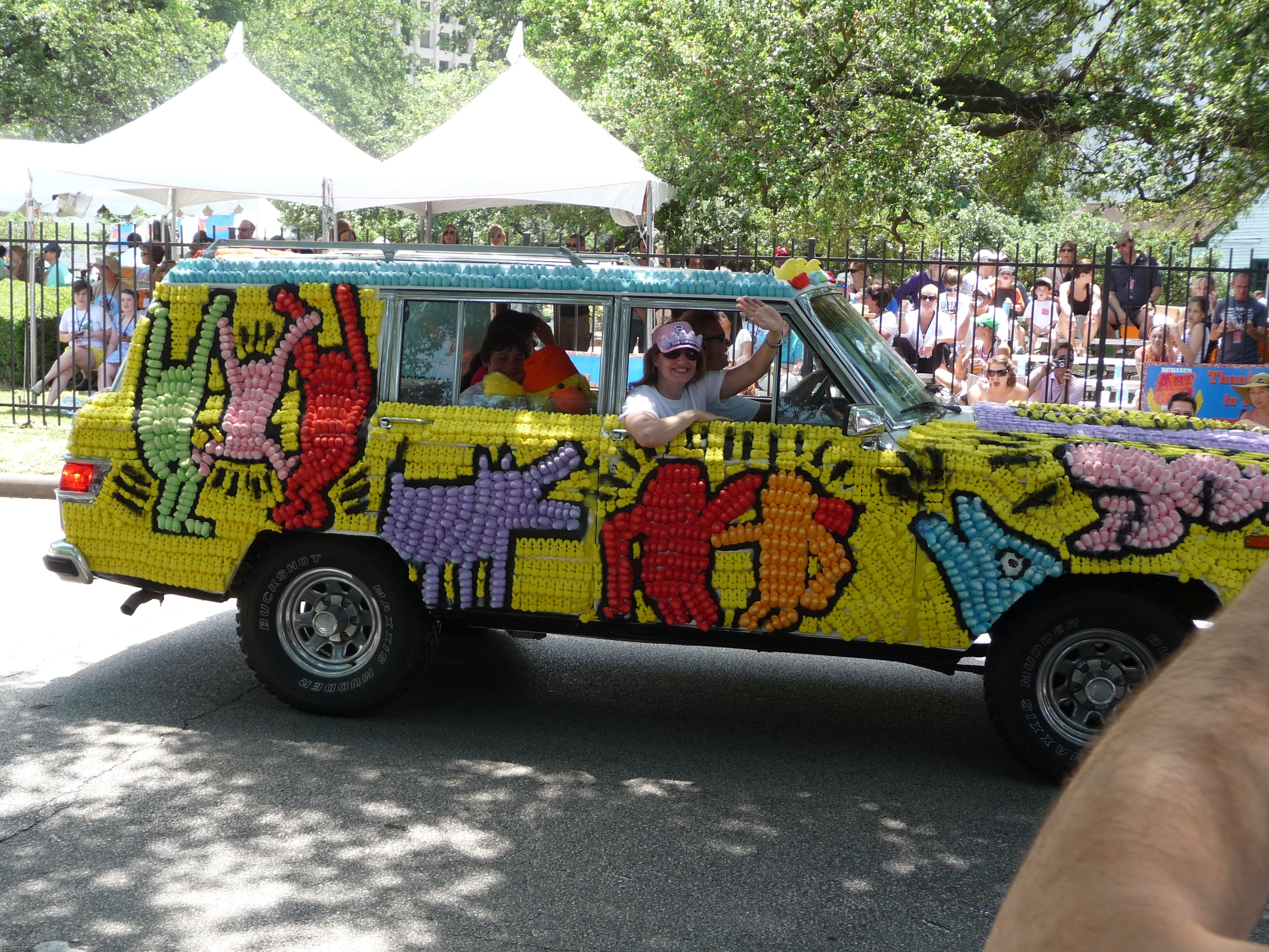 Art Car inspired by Famous Artist Keith Haring Car art