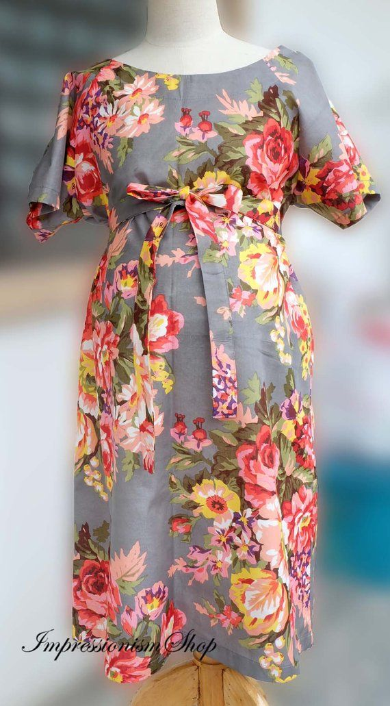 e489a561c6a9a Feeding Robes Floral Birthing Robes Labor Delivery Dress Maternity Hospital  Gown Shoulder Snaps Brea