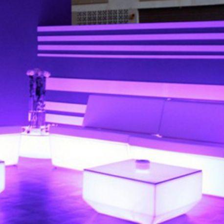 Faz Sofa Central RGB Vondom Meridienne version lumineuse ...