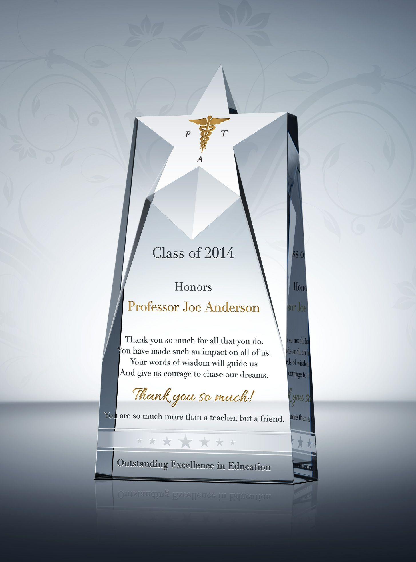 Star Teacher Appreciation Plaque Teacher And Award Plaques