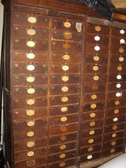 Amberg Antique 60 Drawer Roll Top Letter File Cabinet Brazalets