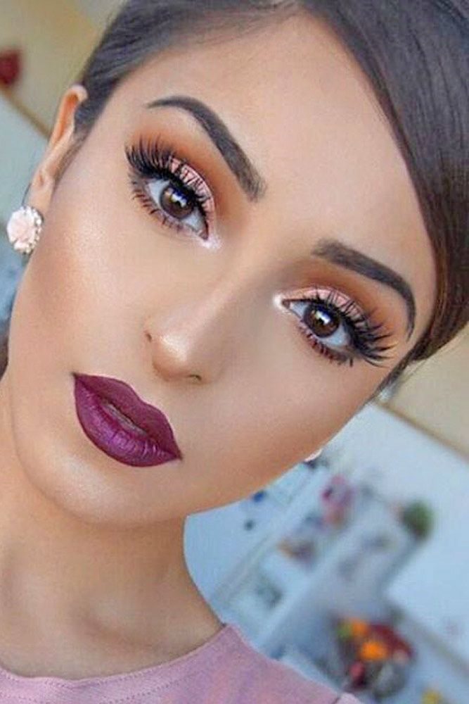 45 Top Rose Gold Makeup Ideas To Look Like A Goddess Fall Makeup Looks Gold Makeup Looks Wedding Makeup For Brown Eyes