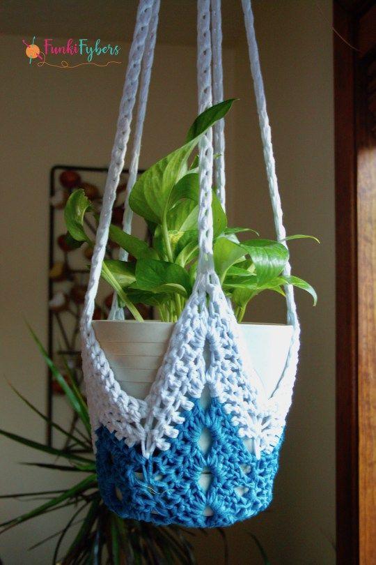 never-ending star plant hanger free crochet pattern | Cosas para ...