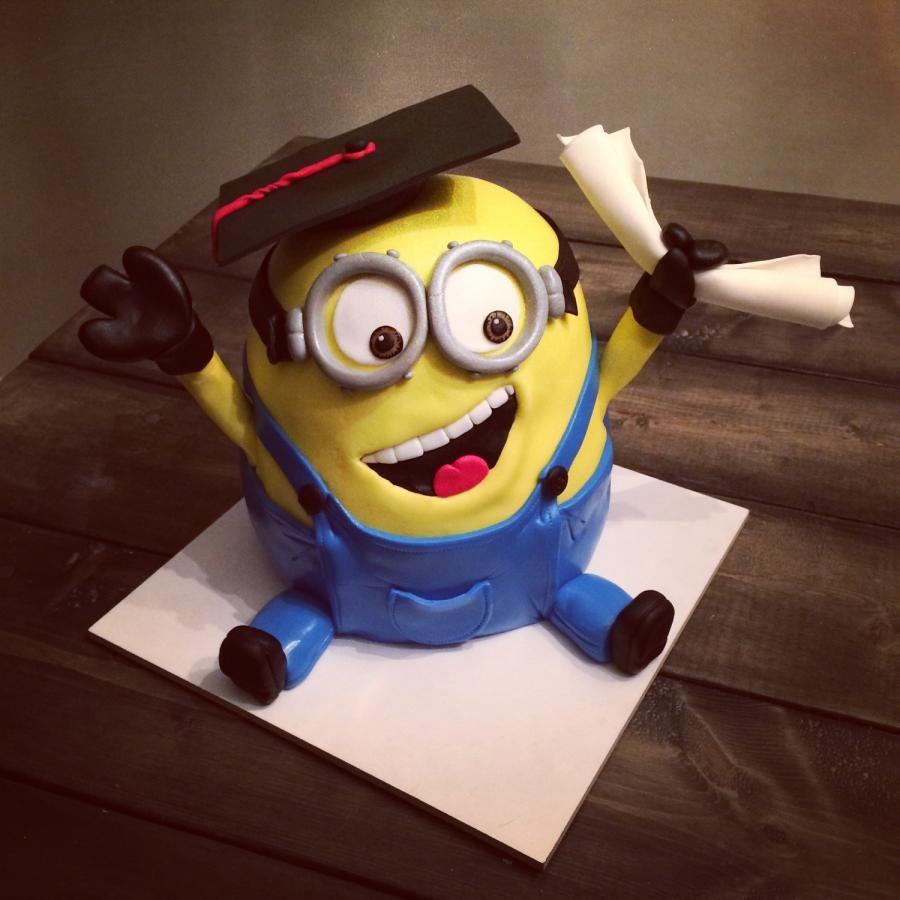 Graduation Minion Cake Cake By Tabi Food Cake