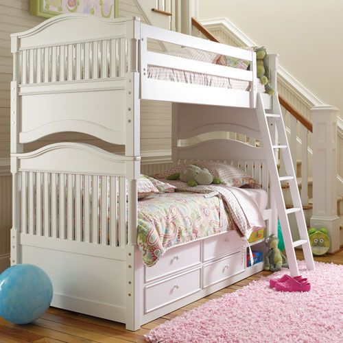 Mix And Match Cottage Bunk Bed In Piano Key White Bunk Beds Bed