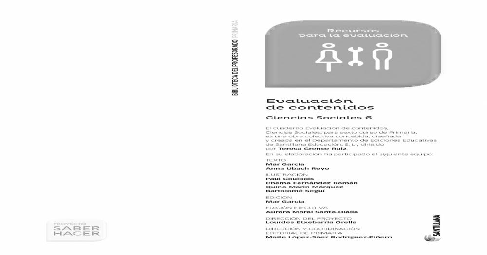 Matematicas 5 Primaria Santillana Control Y Evaluacion Mednifico Com