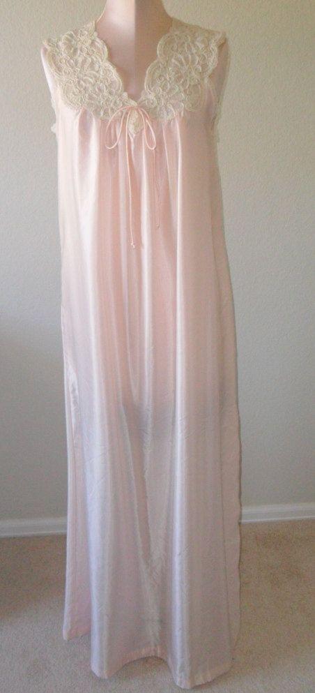 Vintage Barbizon Nightgown Negligee Satin Remarque Small | Old ...