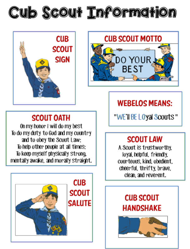 Bobcat Scouts Cub Scout Oath Cub Scout Motto Cub Scout Law