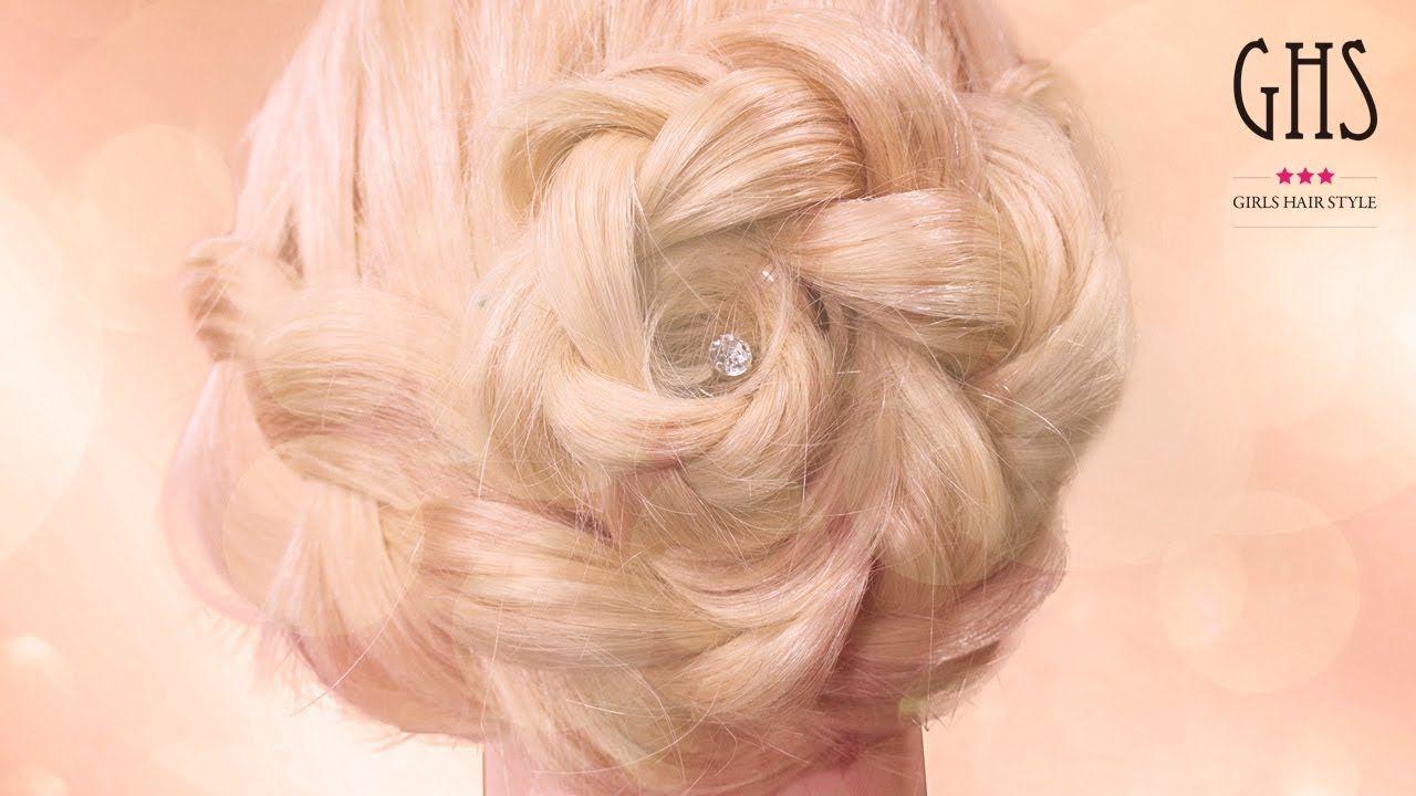 薔薇髪ヘアアレンジ☆耳横から編み込みするやり方/Rose Hairstyles