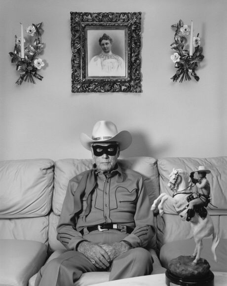 """Clayton Moore, the Former """"Lone Ranger"""", Los Angeles, California, 1992 Gelatin silver print; printed later Mary Ellen Mark's photo"""