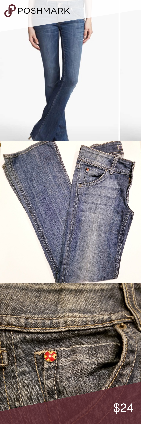 Hudson's Jeans Size 26 Hudson Double Button Jeans, some