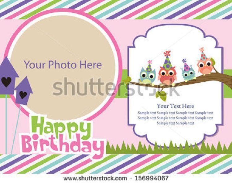 Happy Birthday Invitation Card With Photo Gallery Party Ideas