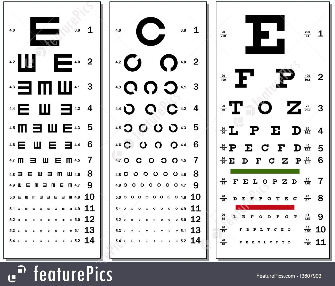Picture Of Eye Test Chart In
