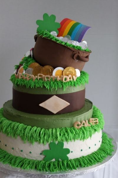 Excellent St Patricks Day Birthday Cake With Images St Patricks Day Personalised Birthday Cards Cominlily Jamesorg