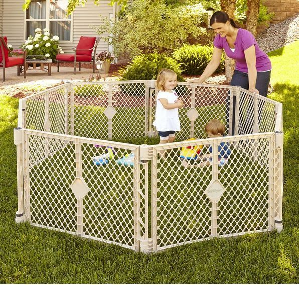 Safe Enclosed Play Area Child Pet Indoor Outdoor Kids Portable Panel Playpen New Play Yard Baby Play Yard Indoor Outdoor