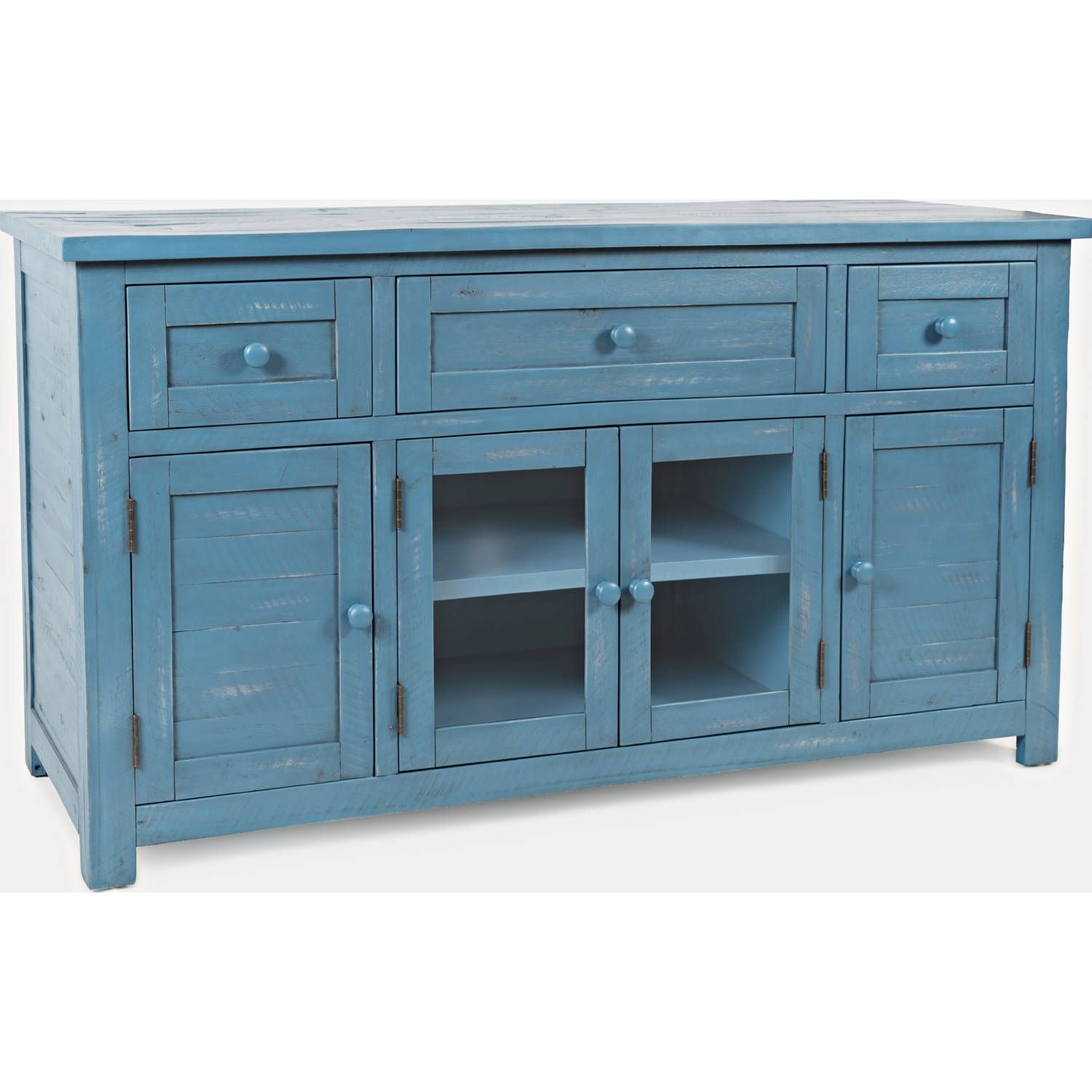 """60"""" TV Stand or Buffet in Antique Blue dynamichome blue"""