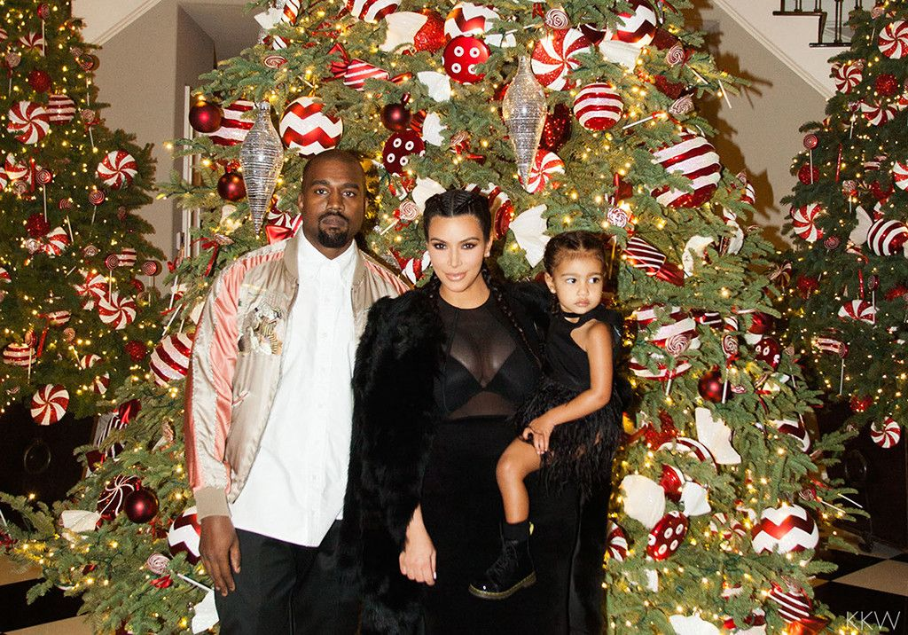 North West, Kim Kardashian and Kanye West Pose for Precious Christmas Pics: See More of North's Cutest Moments | E! Online Mobile